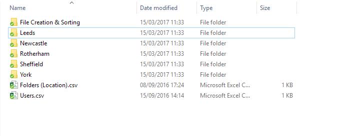 Folders created